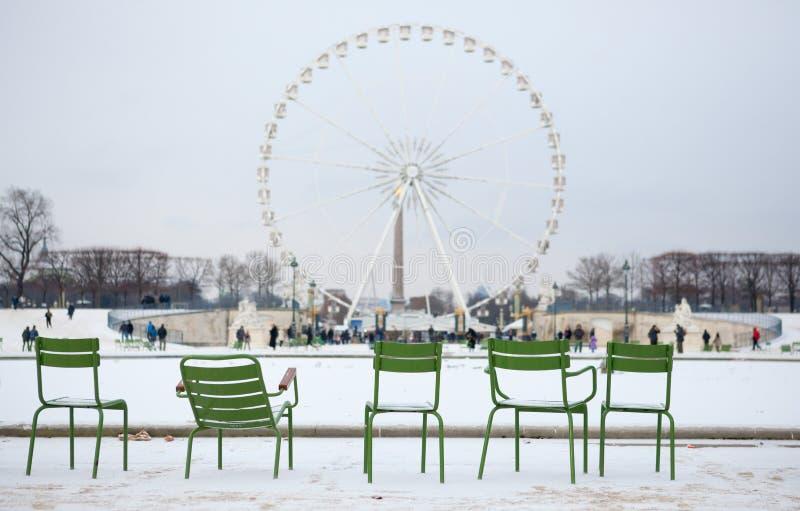 Inverno em Paris fotografia de stock