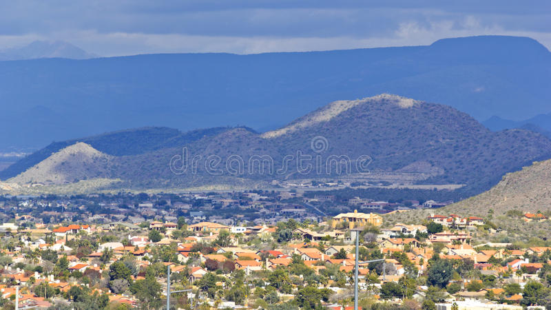 Inverno em Phoenix do norte, AZ fotografia de stock