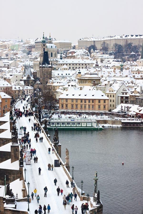 Inverno em Praga fotografia de stock