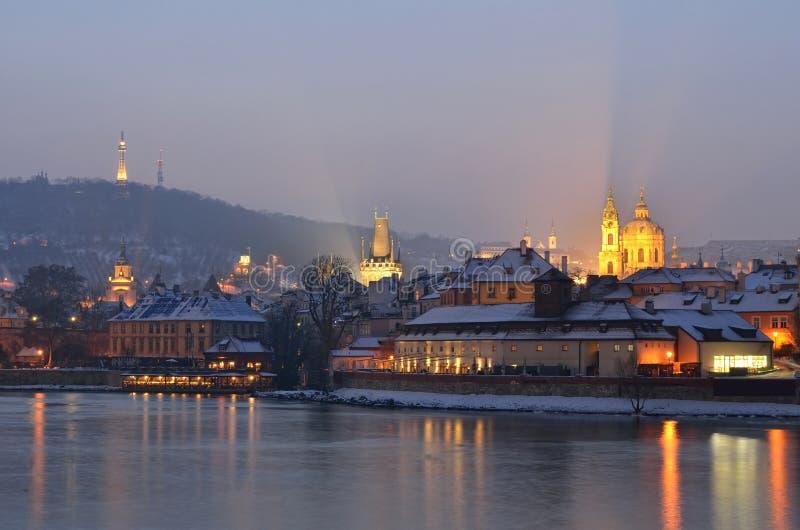 Inverno em Praga imagens de stock