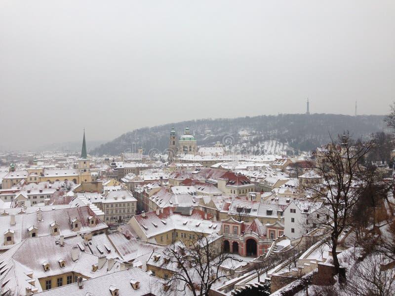 Inverno em Praga imagens de stock royalty free