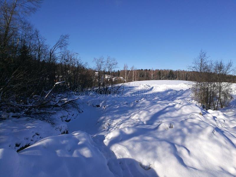 Inverno em Rússia imagens de stock royalty free