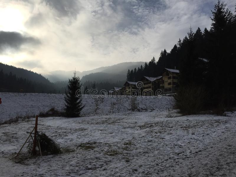 Inverno em Slovakia fotos de stock