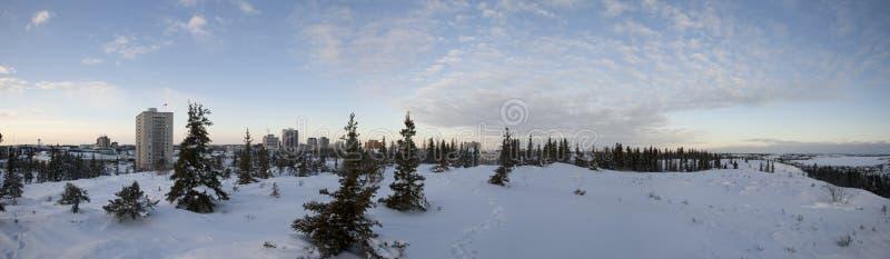 Inverno em yellowknife fotografia de stock