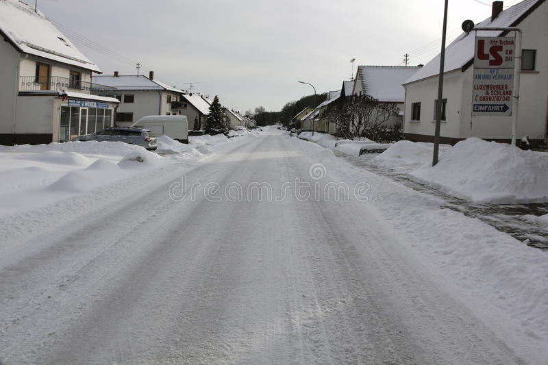 Inverno in Europa Germania Saarland immagine stock