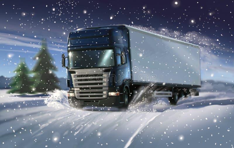 Inverno expresso ilustração royalty free