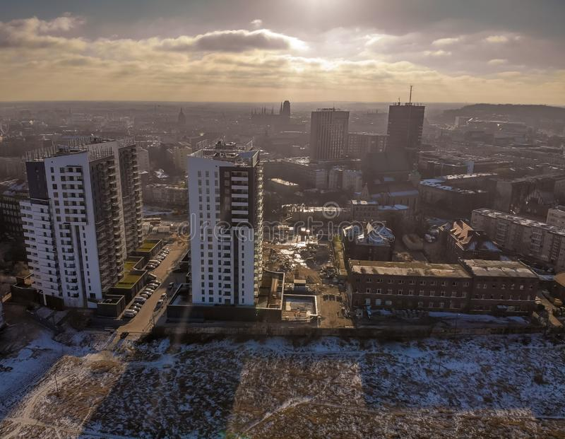inverno Gdansk imagens de stock
