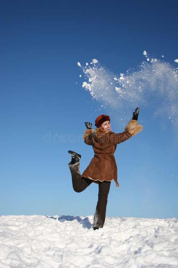 Inverno girl4 felice fotografia stock libera da diritti