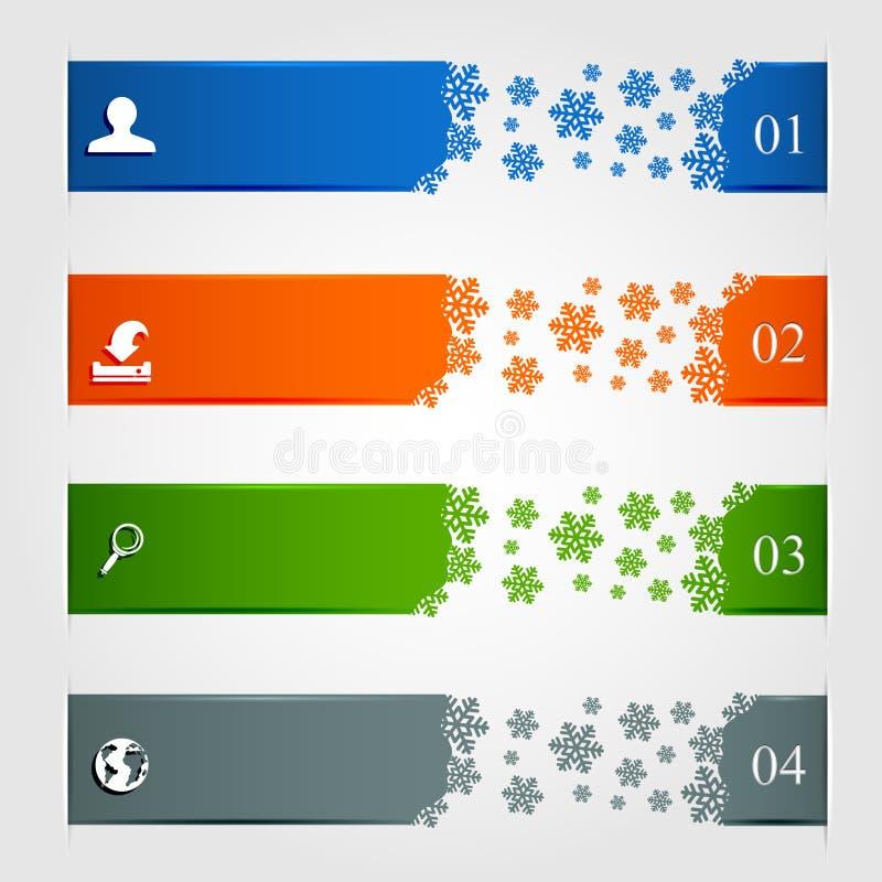 Inverno infographic ilustração royalty free