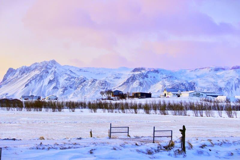 inverno islandês foto de stock