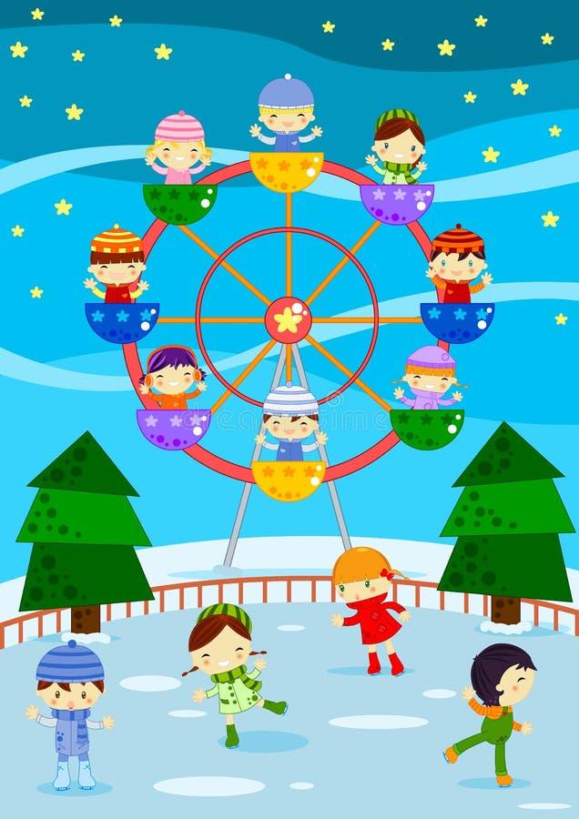 Inverno justo ilustração stock