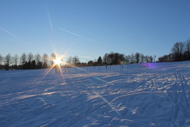 Inverno mágico foto de stock