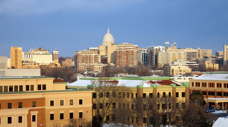 Inverno a Madison fotografie stock libere da diritti