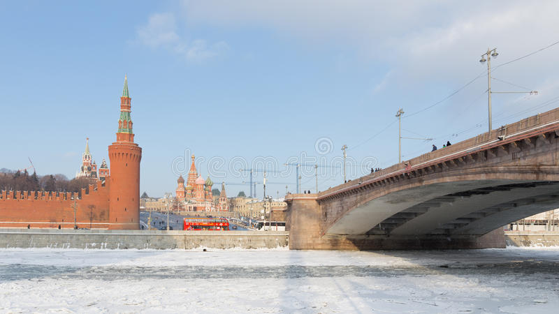 Inverno Mosca, Russia immagini stock libere da diritti