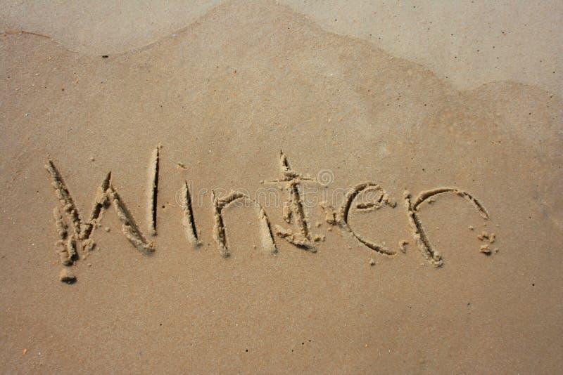 Inverno na areia foto de stock royalty free