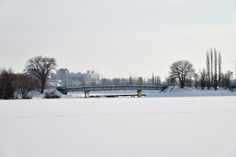Inverno na cidade Voronezh, Rússia fotos de stock royalty free