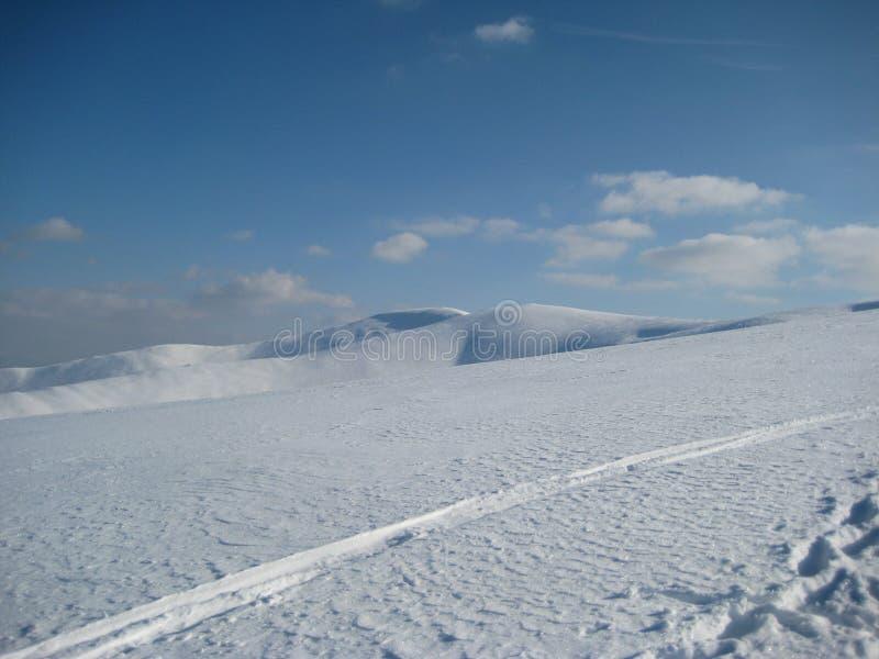 Inverno nas montanhas Carpathian fotografia de stock