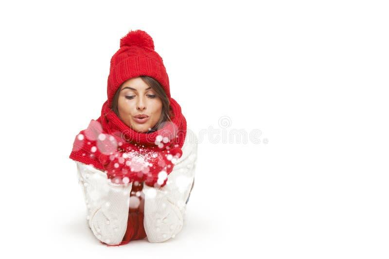 Inverno, natale, concetto di feste fotografie stock libere da diritti