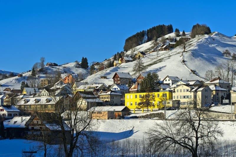 Inverno nel Appenzellerland fotografie stock