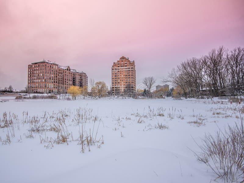 Inverno nel Canada fotografie stock libere da diritti