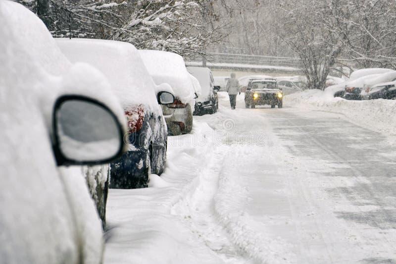 inverno nevado em Moscou imagens de stock royalty free