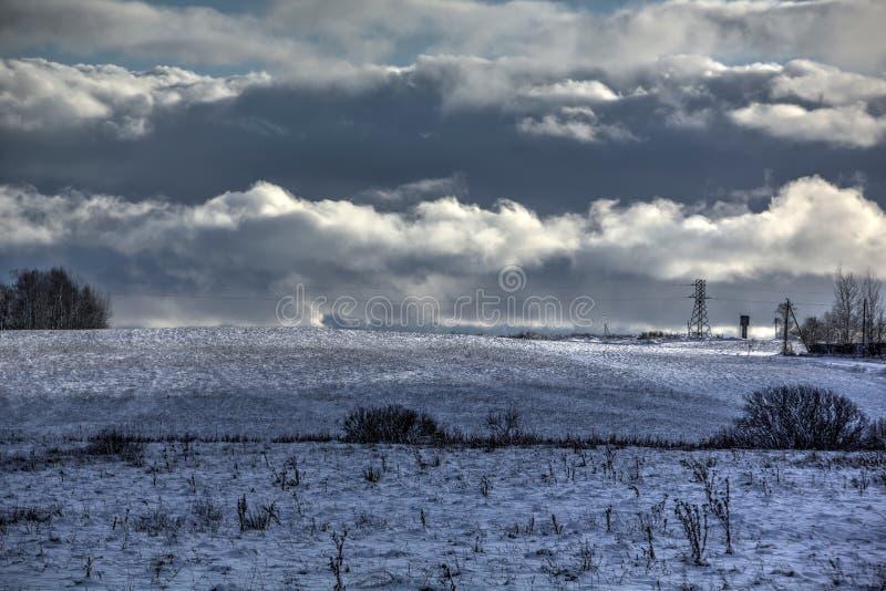 Inverno neve Campo imagem de stock royalty free
