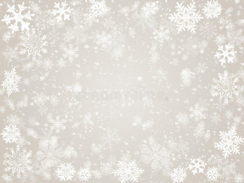 Inverno no cinza ilustração royalty free
