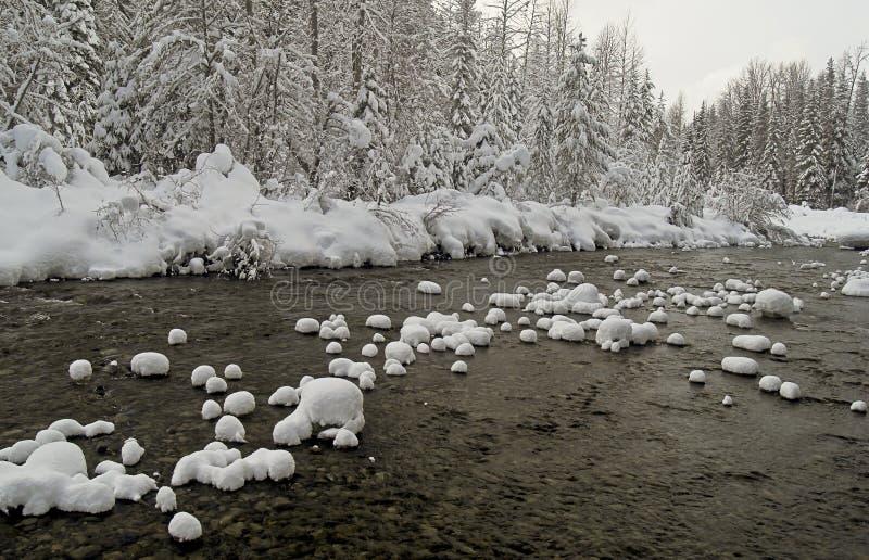 Inverno no rio de Similkameen fotografia de stock royalty free