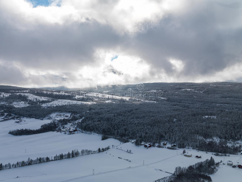 Inverno Norvegia fotografie stock libere da diritti
