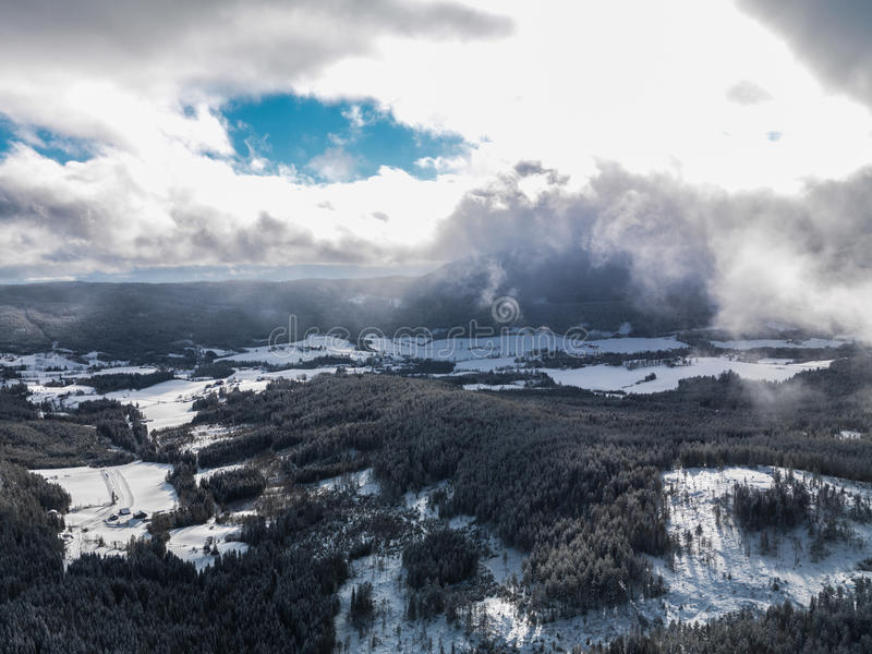 Inverno Norvegia immagine stock