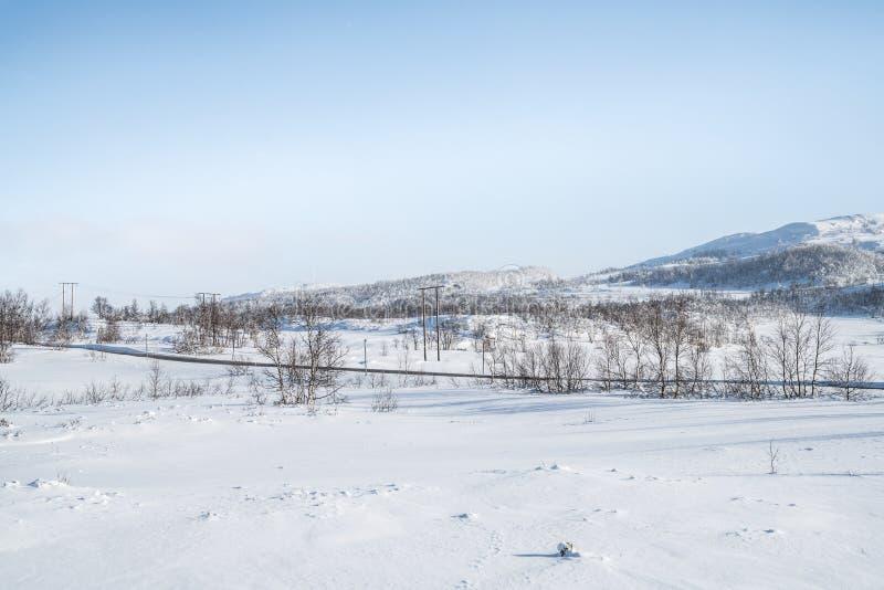 Inverno in Norvegia fotografie stock