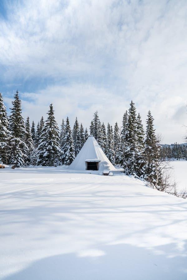 Inverno in Norvegia fotografie stock libere da diritti