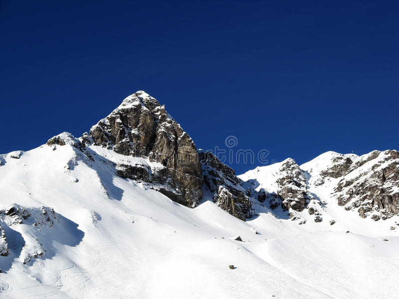 Inverno nos alpes fotos de stock