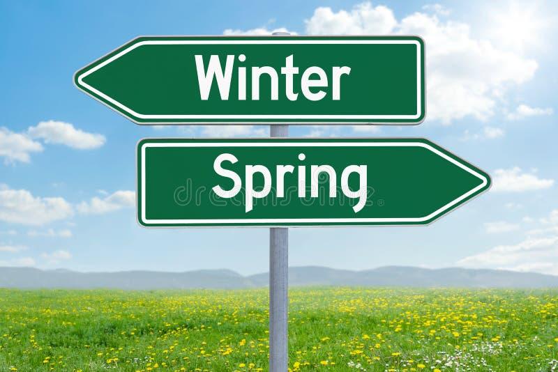 Inverno o primavera immagine stock