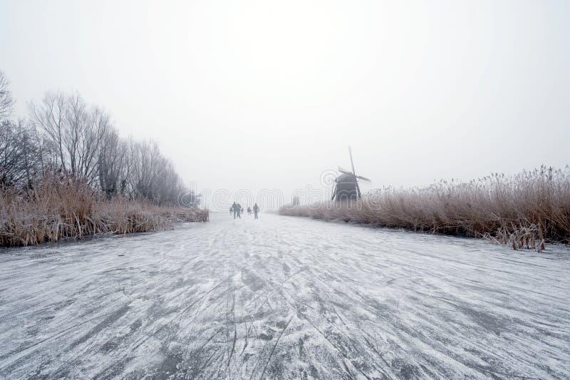 Inverno olandese fotografie stock libere da diritti