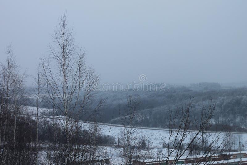 inverno ou névoa do russo imagem de stock