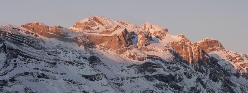 Inverno panorâmico imagem de stock