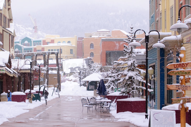 Inverno in Park City Utah fotografia stock libera da diritti