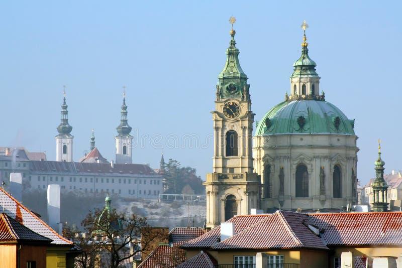 Inverno Praga imagens de stock royalty free
