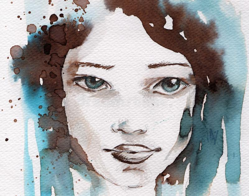 Inverno, ritratto freddo illustrazione di stock
