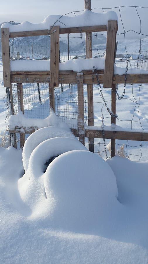 Inverno rurale Lanscape immagine stock libera da diritti