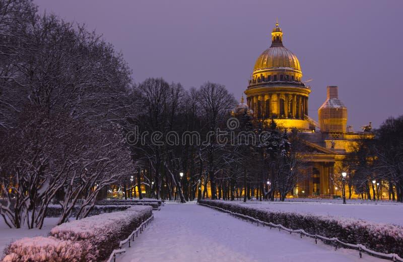 Inverno in San Pietroburgo, Russia immagine stock