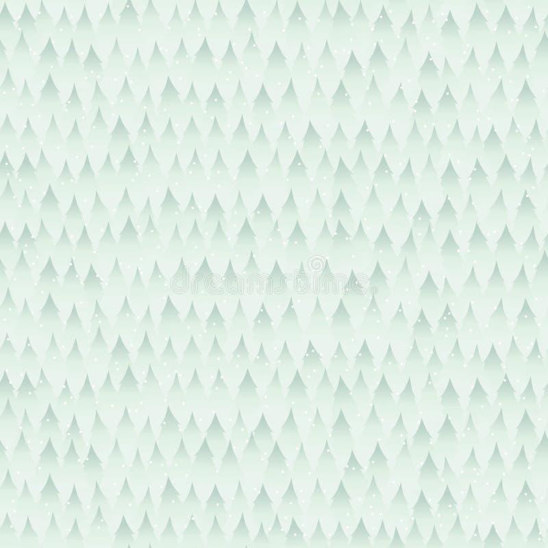 Inverno senza cuciture Forest Background Pattern illustrazione vettoriale