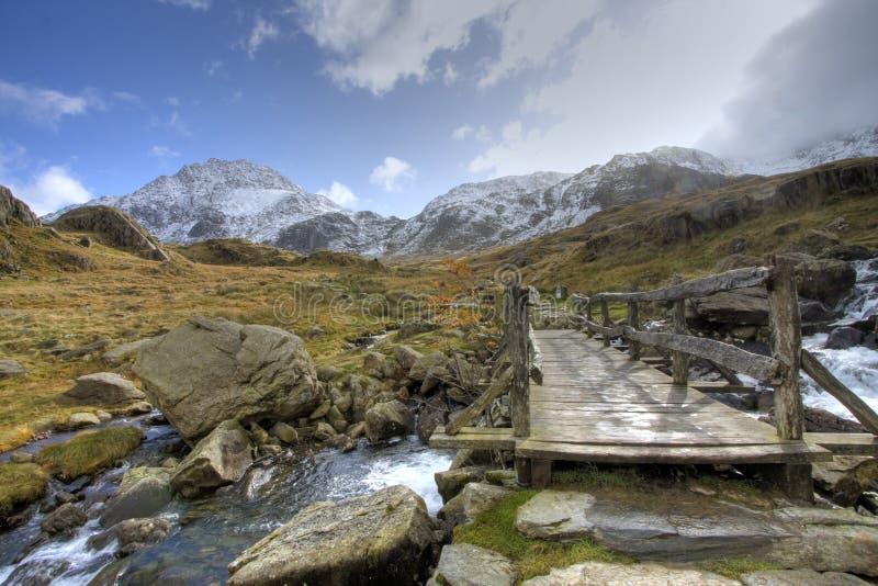 Inverno in Snowdonia immagine stock