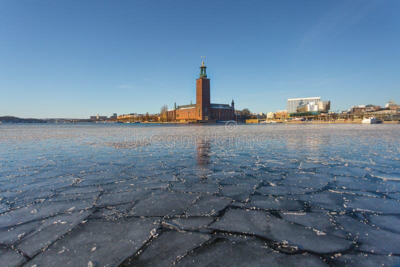 Inverno a Stoccolma, Svezia, Europa fotografie stock