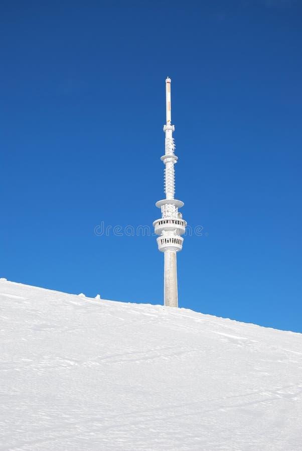 Inverno sulla montagna di Praded fotografia stock