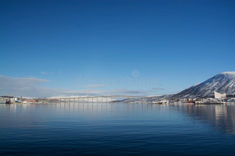 Inverno in Tromsoe, Norvegia fotografia stock libera da diritti