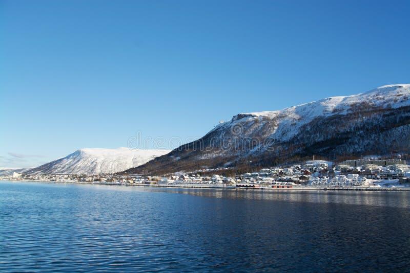 Inverno in Tromsoe, Norvegia fotografia stock