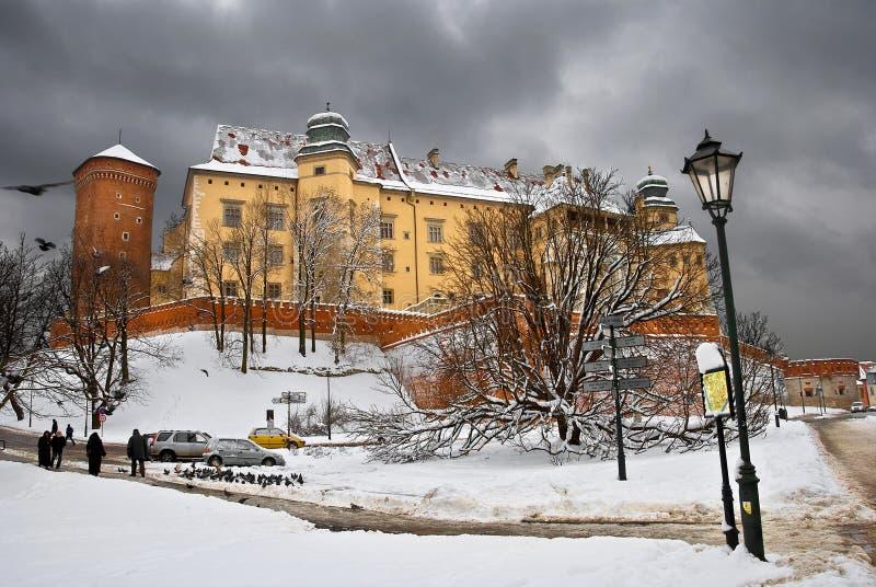 Inverno Wawel foto de stock