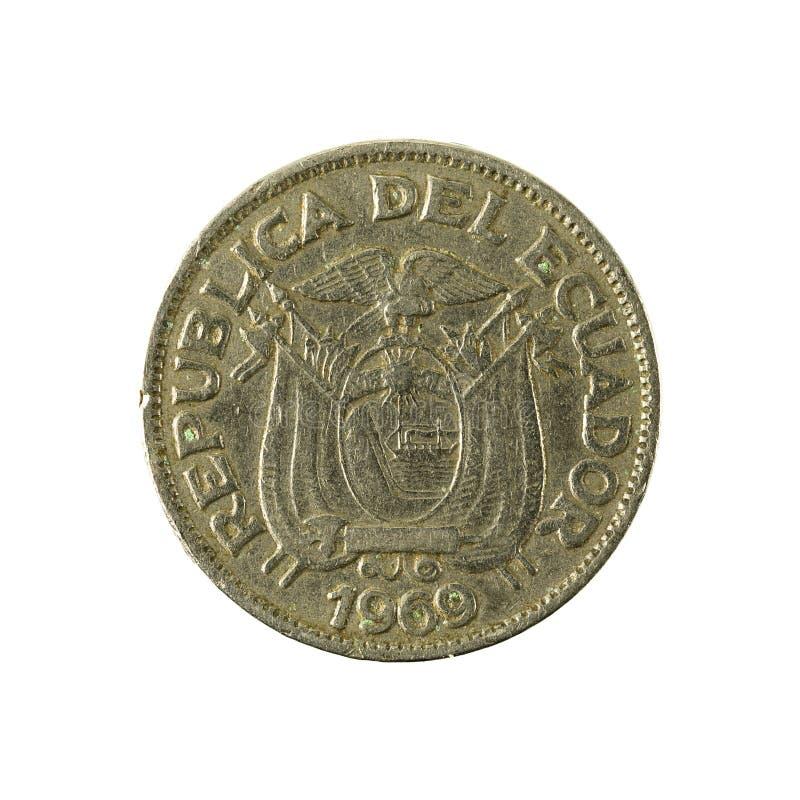 20 inverse de la pièce de monnaie 1969 de centavo d'ecuadorian photographie stock